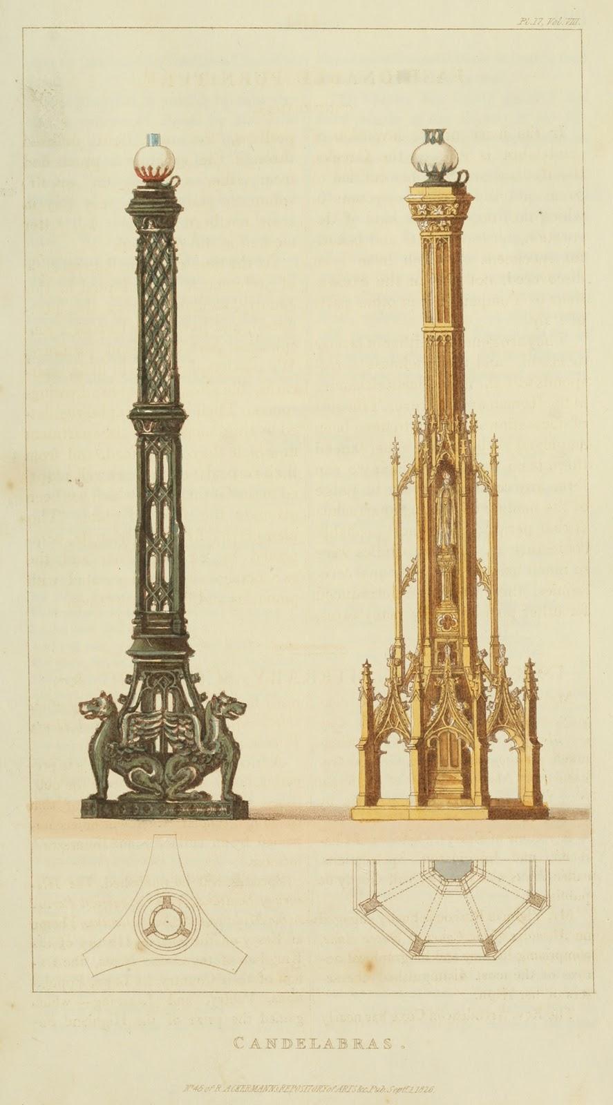 Candelabras. Plate 27. 1826.