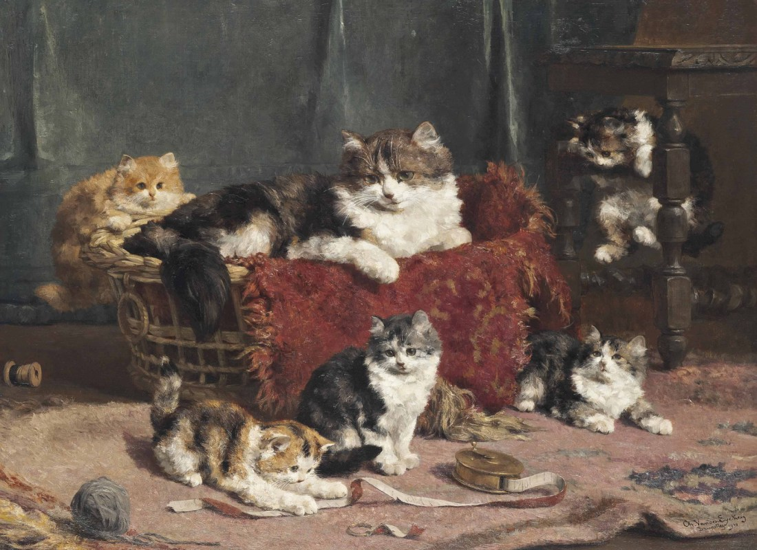 """""""Playtime."""" 1910. Oil on canvas."""