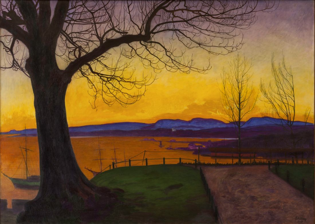"""Spring Evening, Akershus Fortress."" 1913."