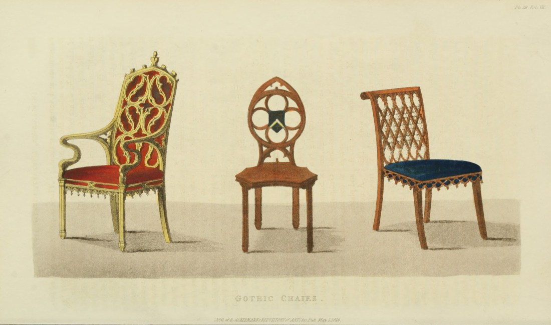 Gothic chairs. Plate 29. 1826.
