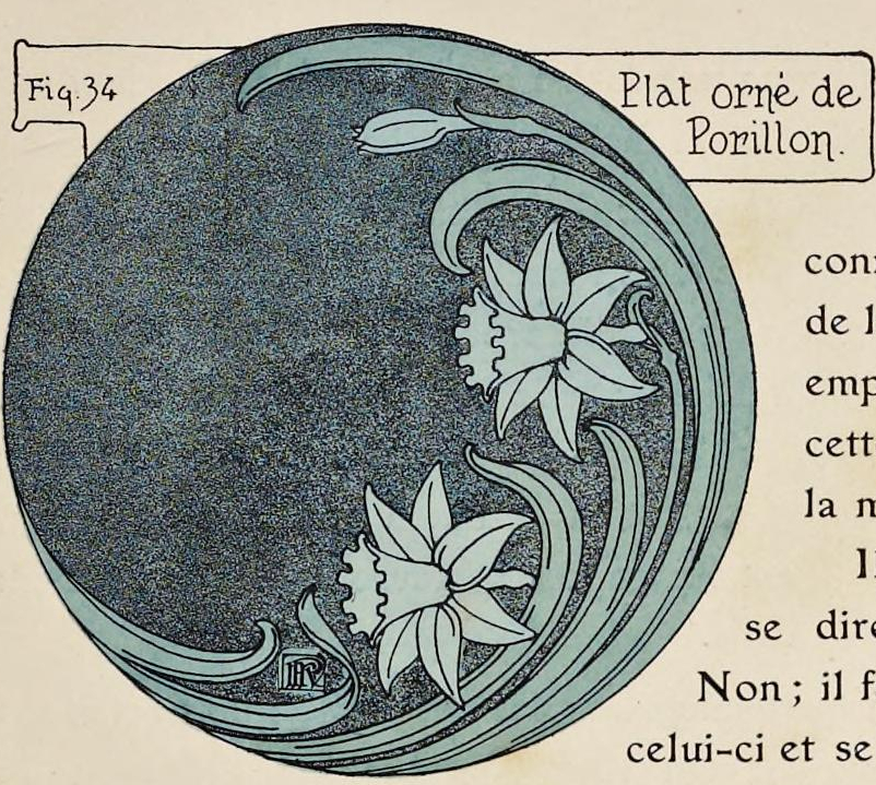 """""""Plat orné de Porillon."""" Figure 34. Page 42 (detail)."""