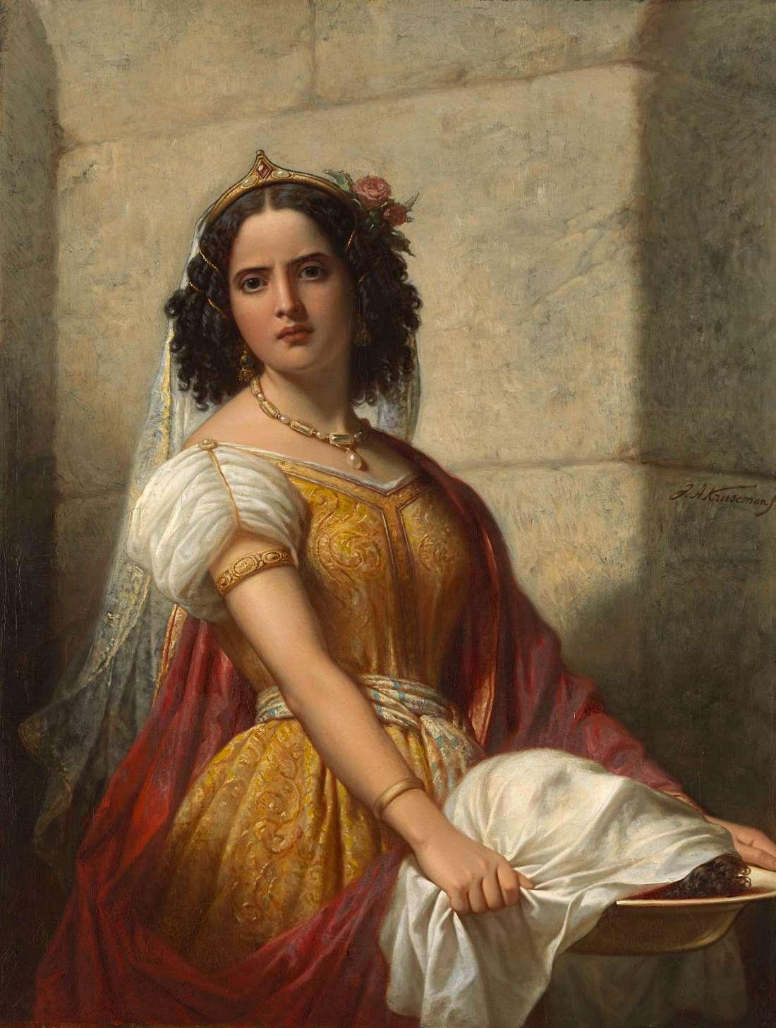 """""""Salomé met het hoofd van Johannes de Doper."""" ca. 1861."""