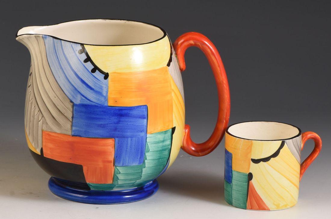 """""""Paris"""" cubist design jug. ca. 1930."""