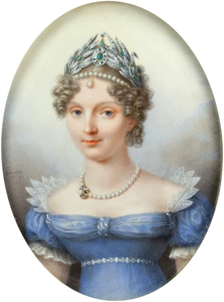 Portrait of Empress Elizabeth Alexeievna, wife of Tsar Alexander I. 1817.