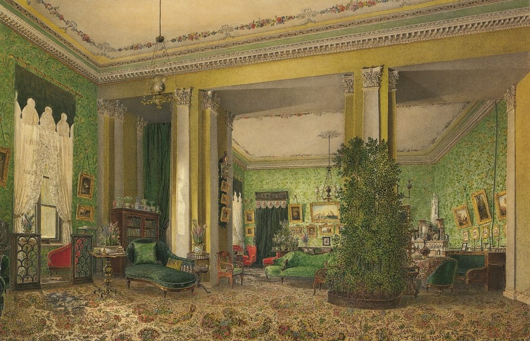 Room in the house of the princes Golitsyn. 1845.