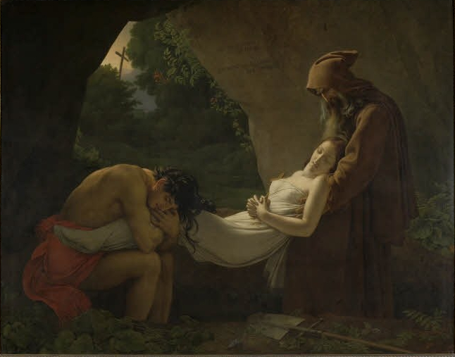 """The Entombment of Atala."" Shown at the Salon in 1808."