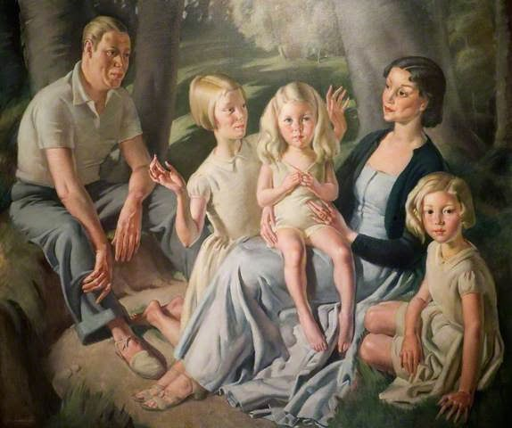 Mr and Mrs R H Butler and Their Daughters - 1936