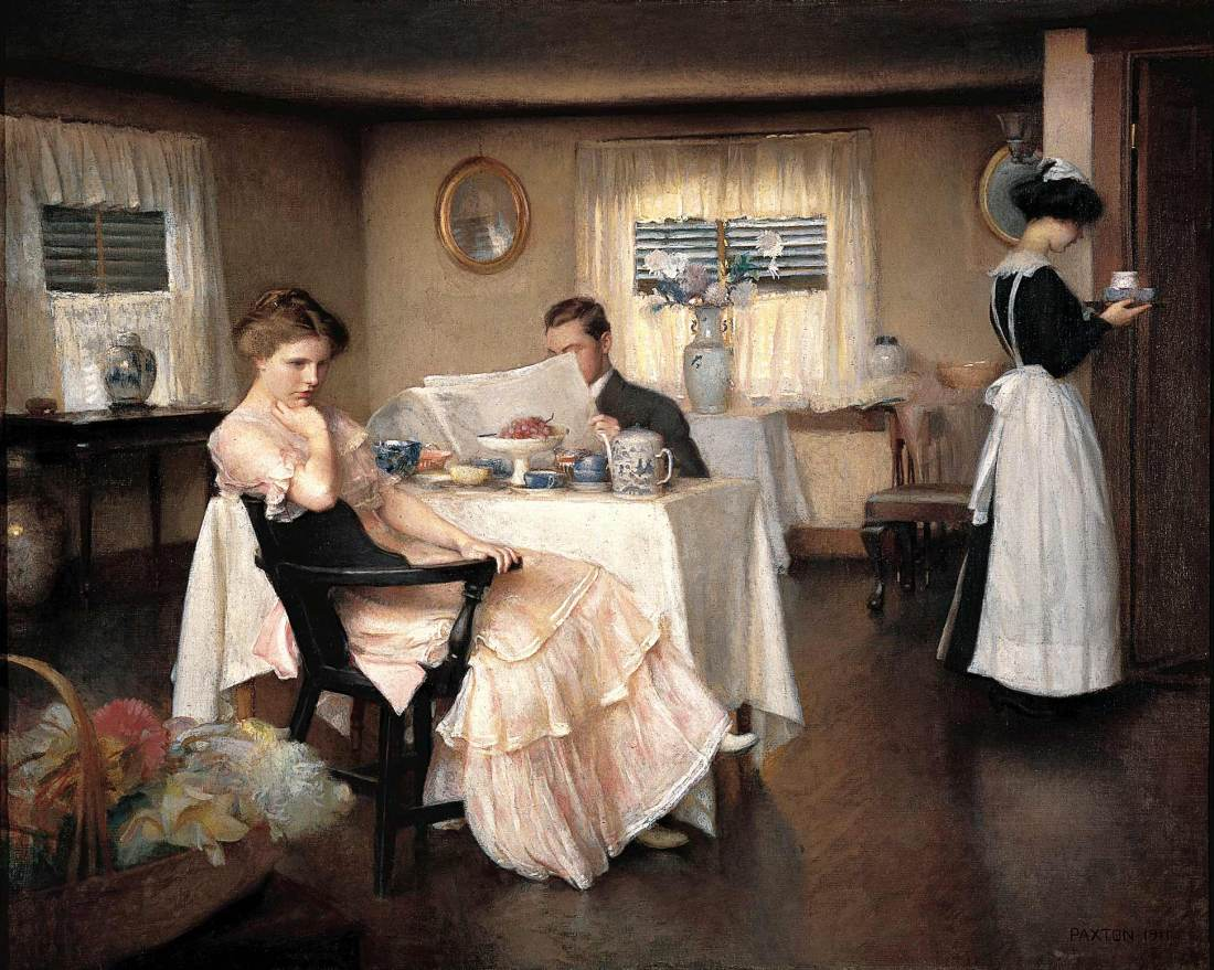 paxton - The Breakfast. 1911. Oil on canvas. 28 1_4 x 35 1_4 in. (71.8 x 89.5 cm). Private collection @@@