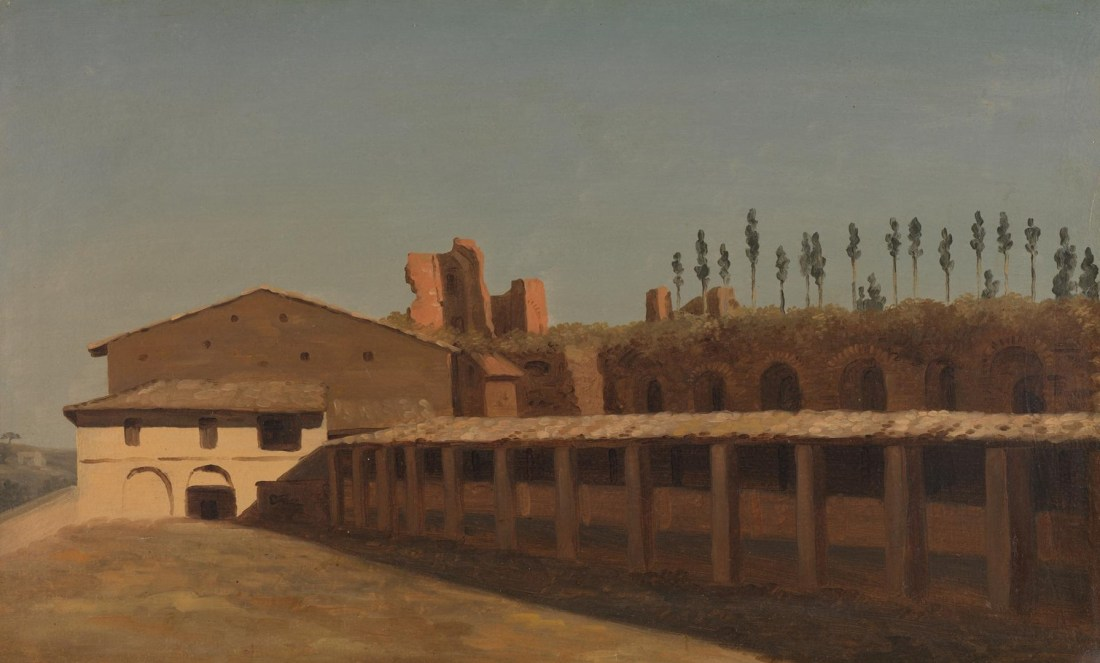"""""""Cow-Shed and Houses on the Palatine Hill."""" ca. 1782-1784."""