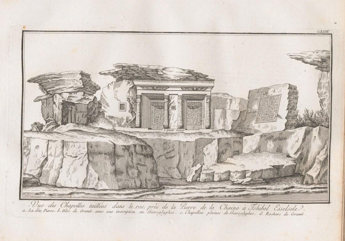"""""""Vue des chapelles taillées dans le roc, près de la pierre de la chaîne à Tschibel Esselsel."""""""