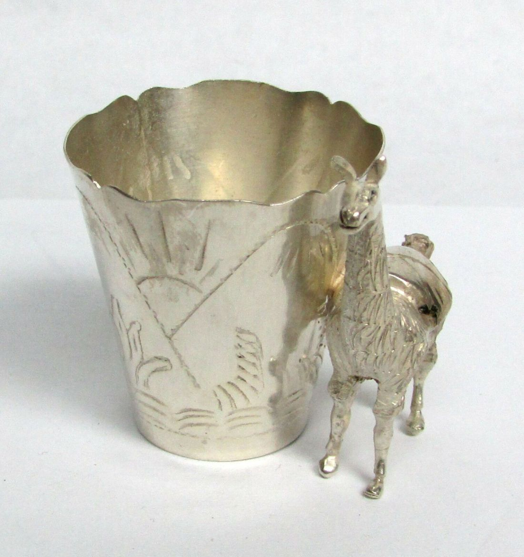 Llama toothpick holder.