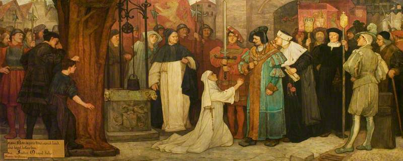 'Measure for Measure', Act V, Scene 1, Isabella Appealing to the Duke. 1907.