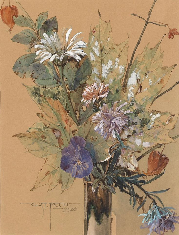 """""""Late summer flowers."""" 1928."""
