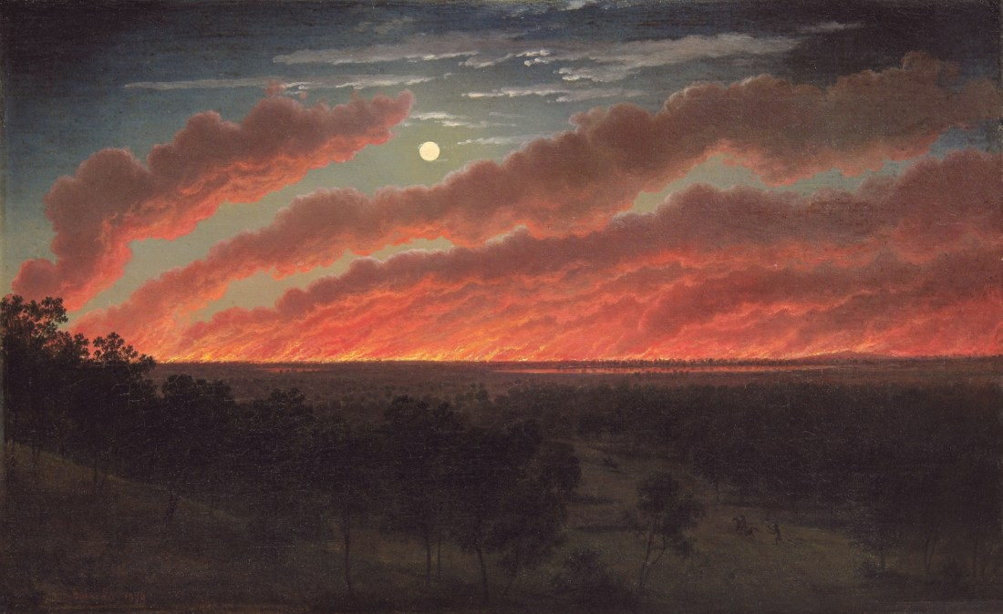 Eugene_von_Guerard_-_Bush_fire_between_Mount_Elephant_and_Timboon,_1857
