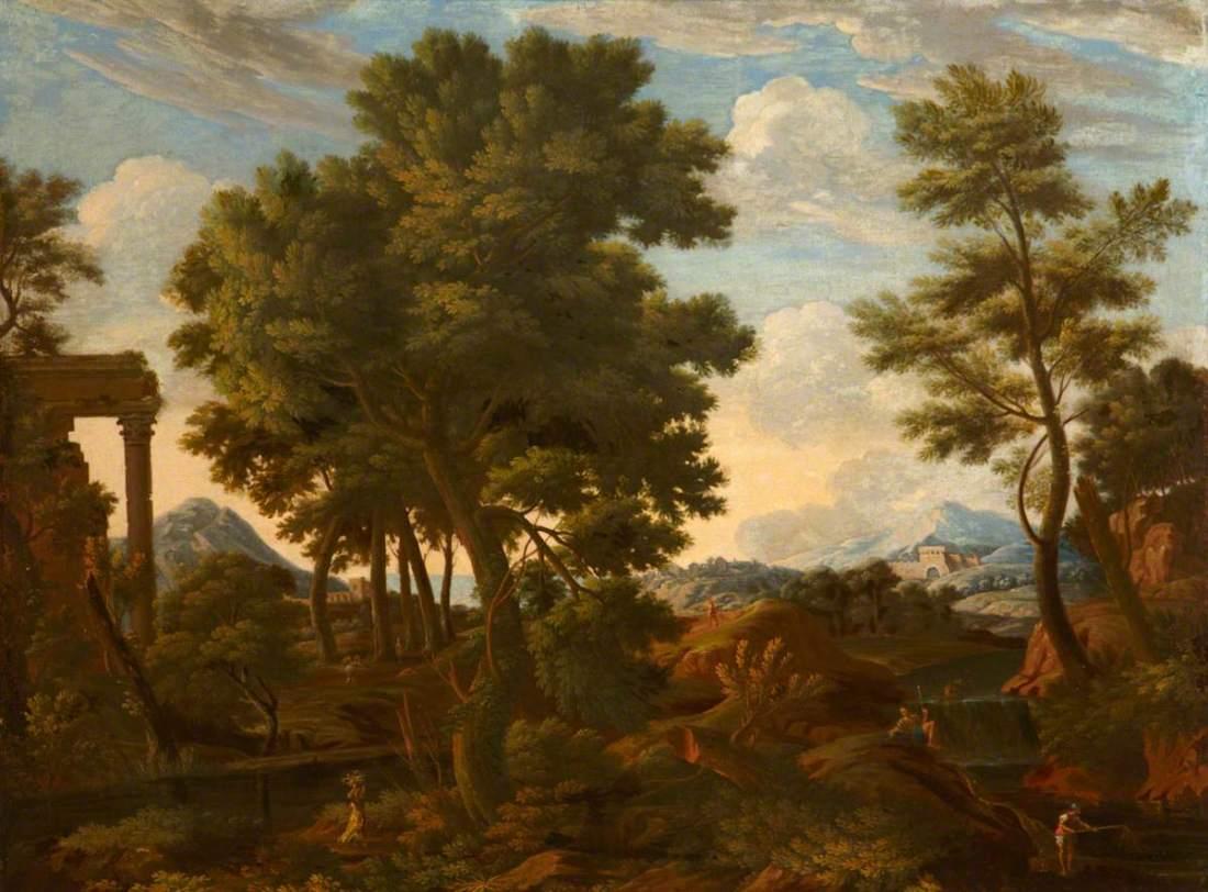 Allegrain, Etienne, 1644-1736; Classical Landscape with Figures