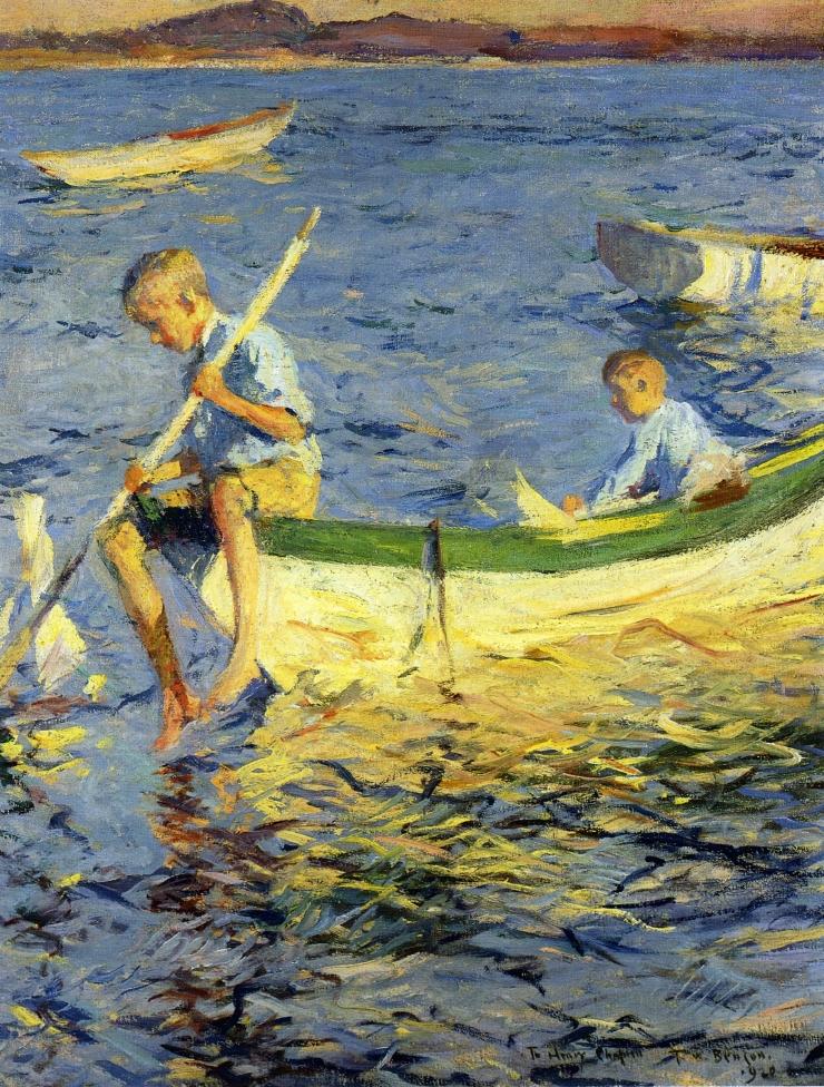 Frank_W._Benson,_Boating_at_Vinalhaven,_1920