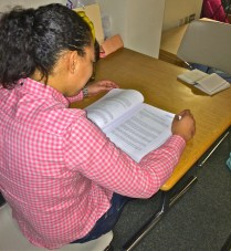 Elisa continues to study, which she says she does a few hours a day, even though she is not currently in class.