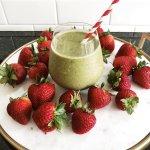 Image of strawberry maca smoothie