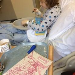 Linoprint in hospital