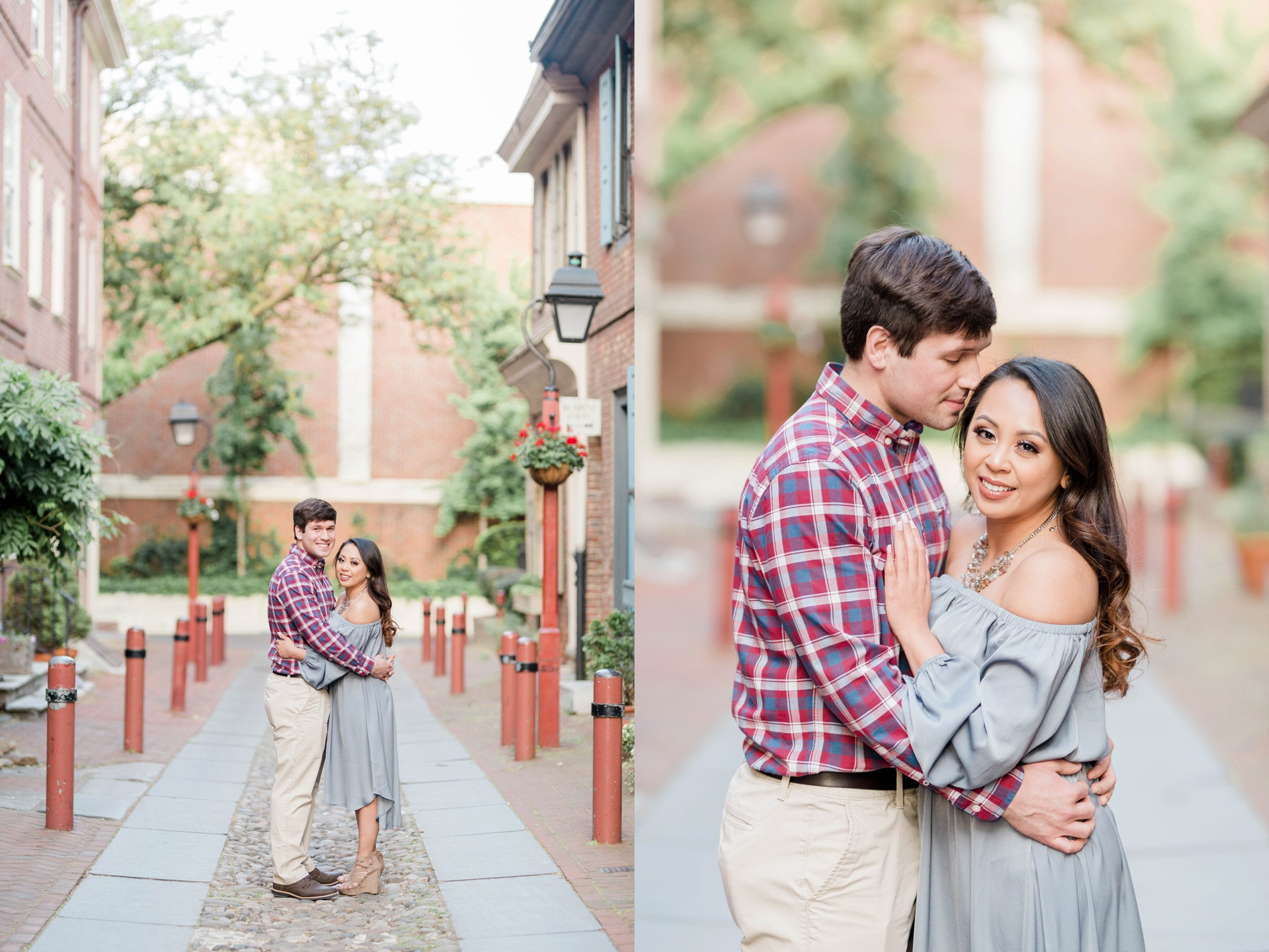 philadelphia engagement sessionelfrith's alley engagement session
