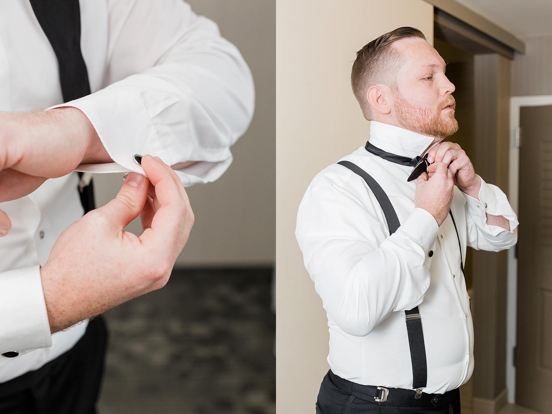 groom getting ready   William Penn Inn Wedding