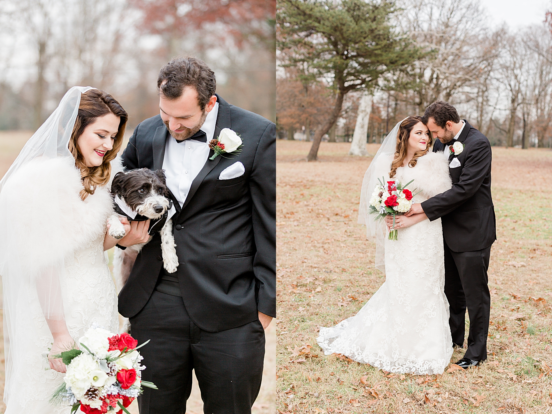 Weddings with Dogs | Philadelphia Winter Wedding