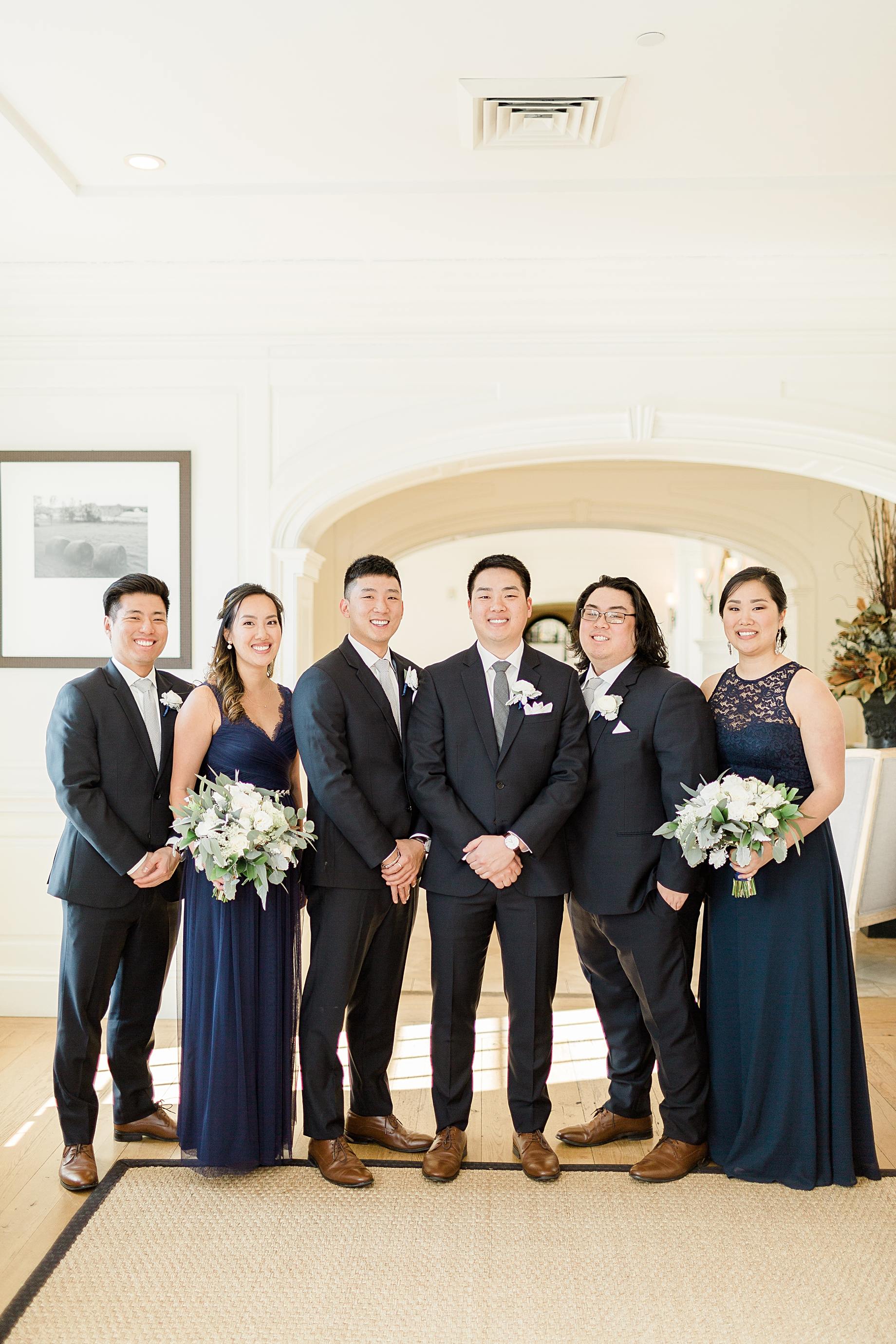 Elegant Winter Wedding at French Creek Golf Club } Groomsmen attire from The Black Tux