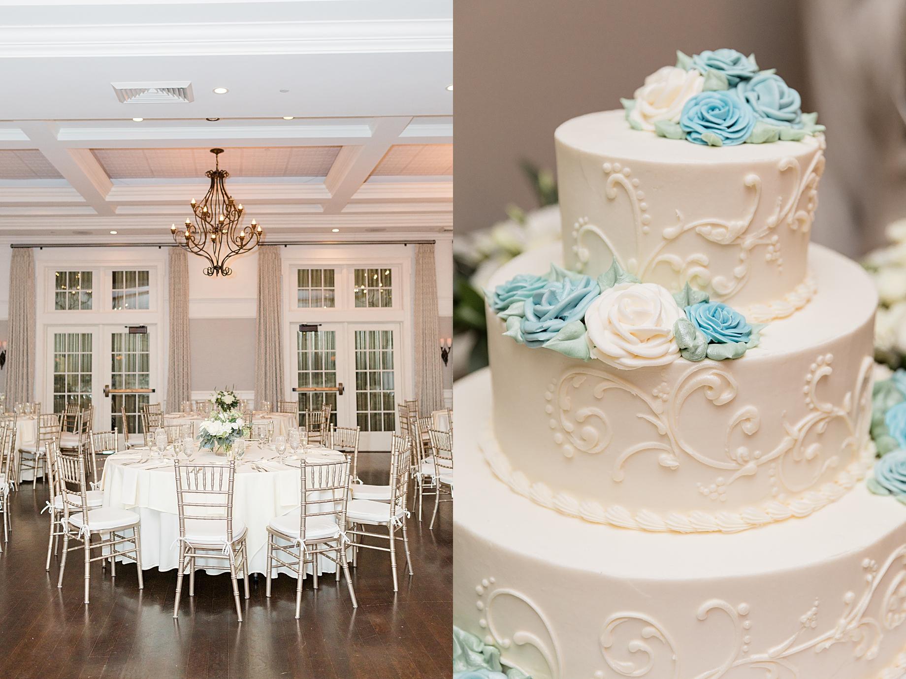 French Creek Golf Club Wedding Reception | Cake by Baker's of Buffington