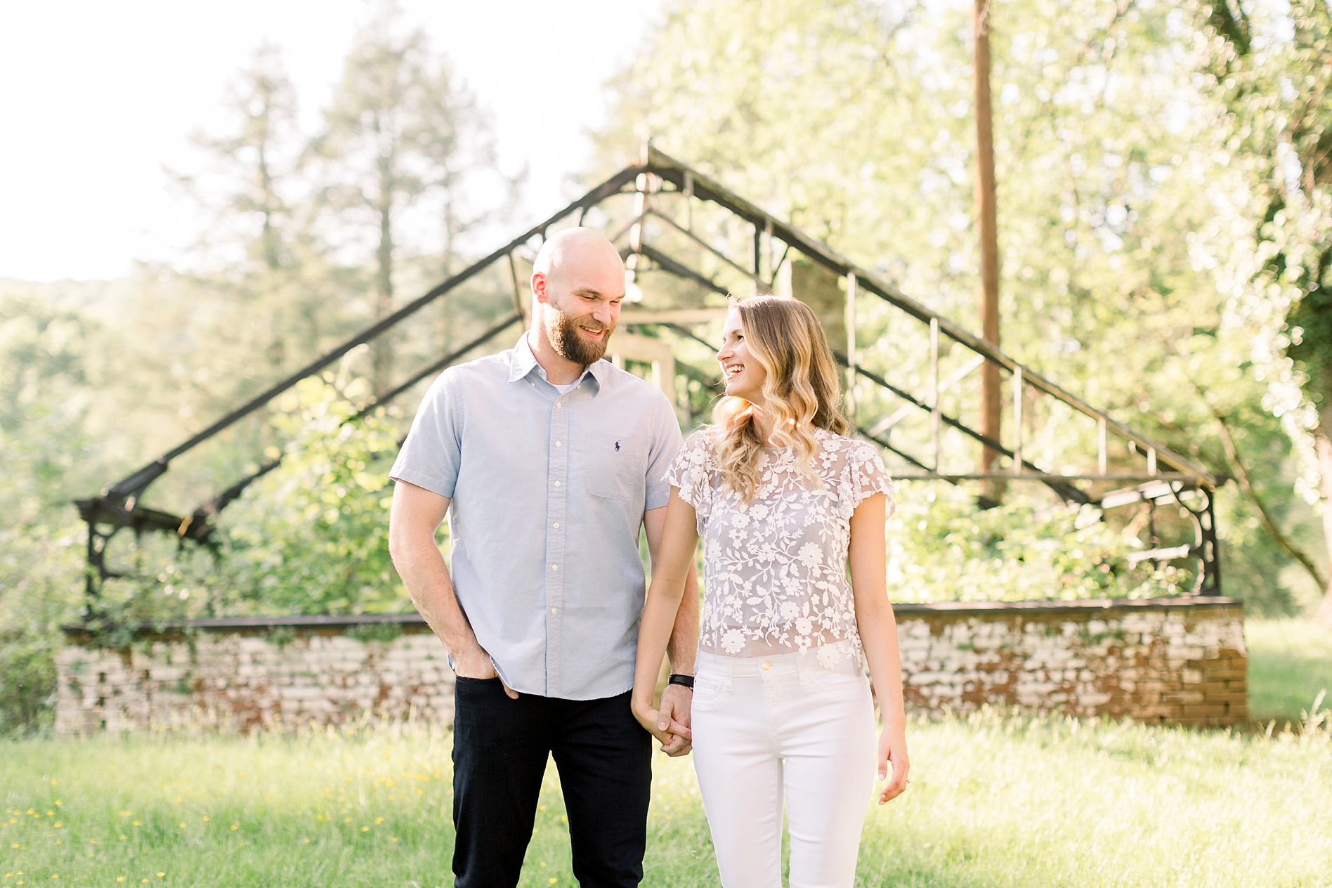 Golden Hour Engagement Session at Valley Forge