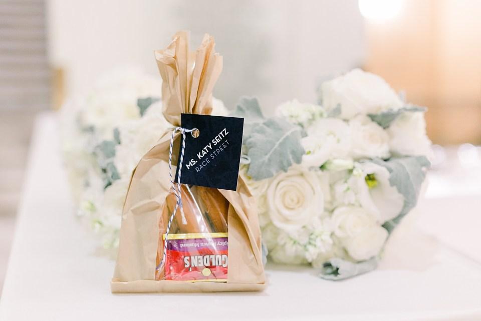 philly soft pretzel wedding favors