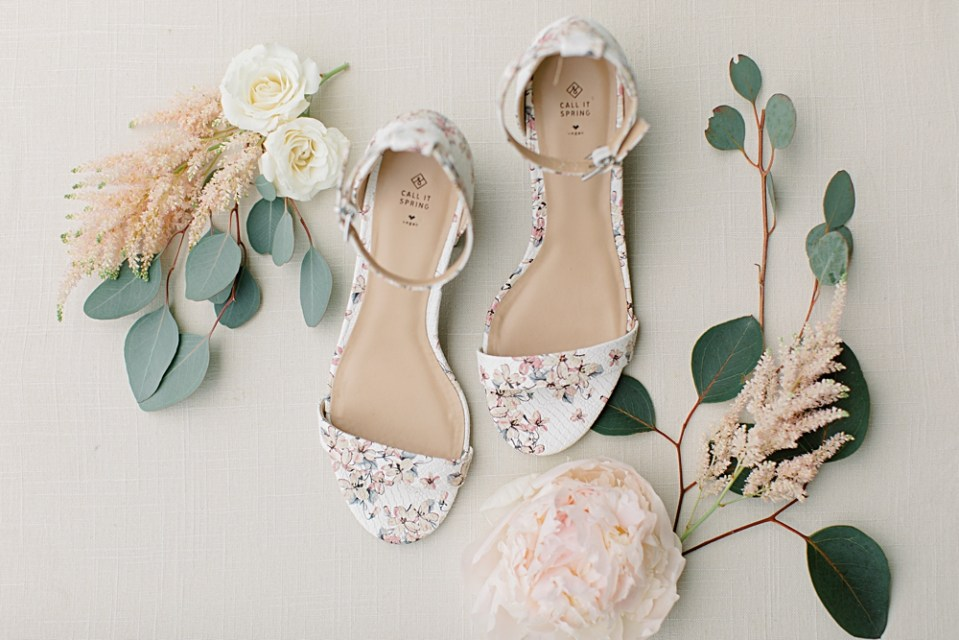 floral wedding shoes