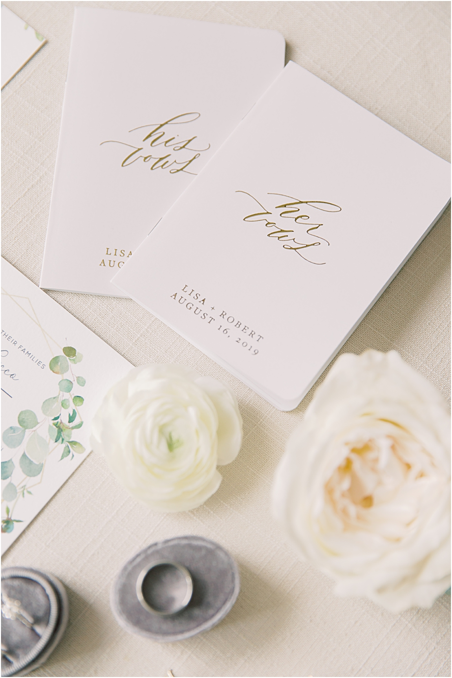 personalized vow books | John James Audubon Center Wedding