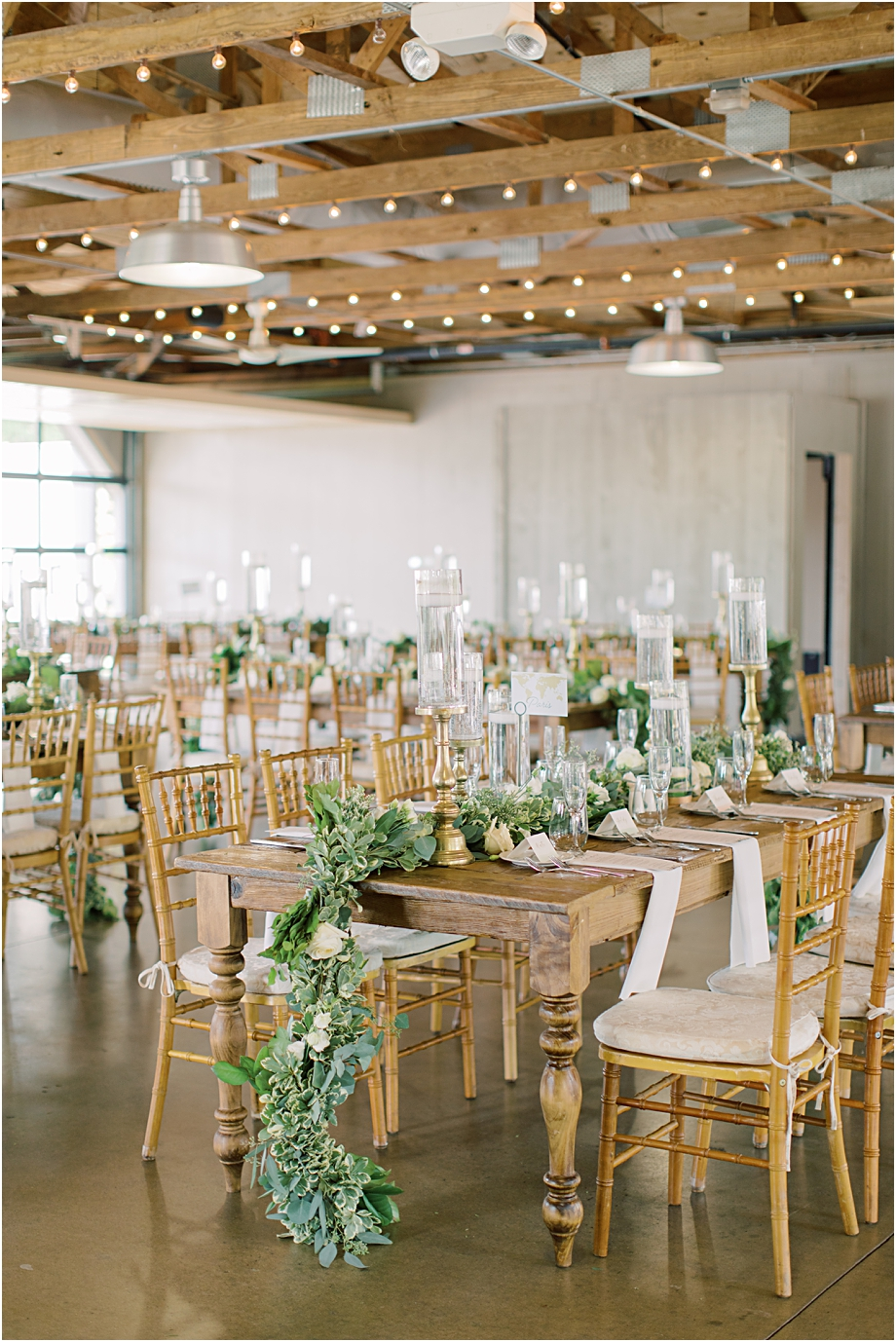 farm tables wedding | John James Audubon Center Wedding