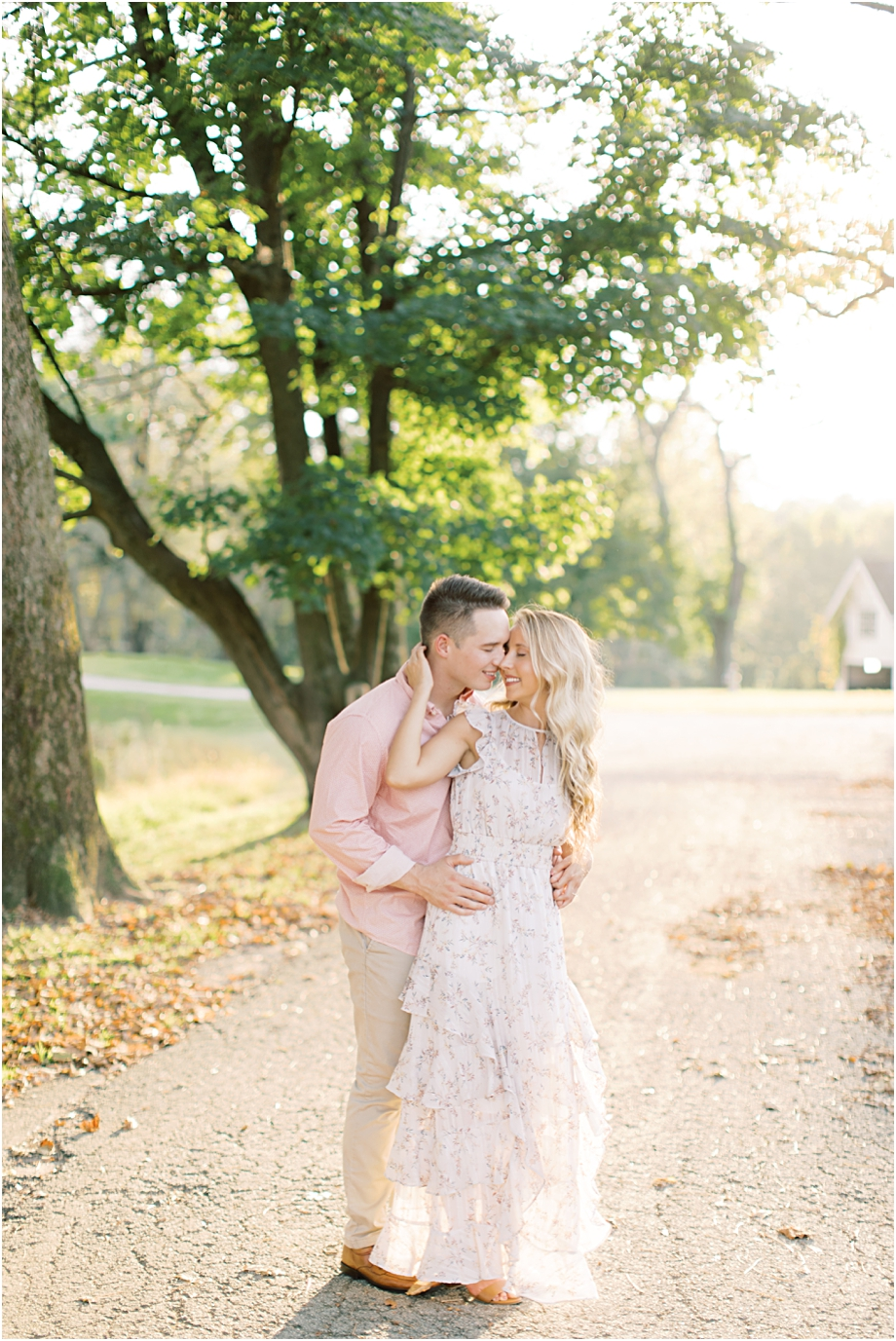 golden hour engagement session at valley forge   sarah canning photography