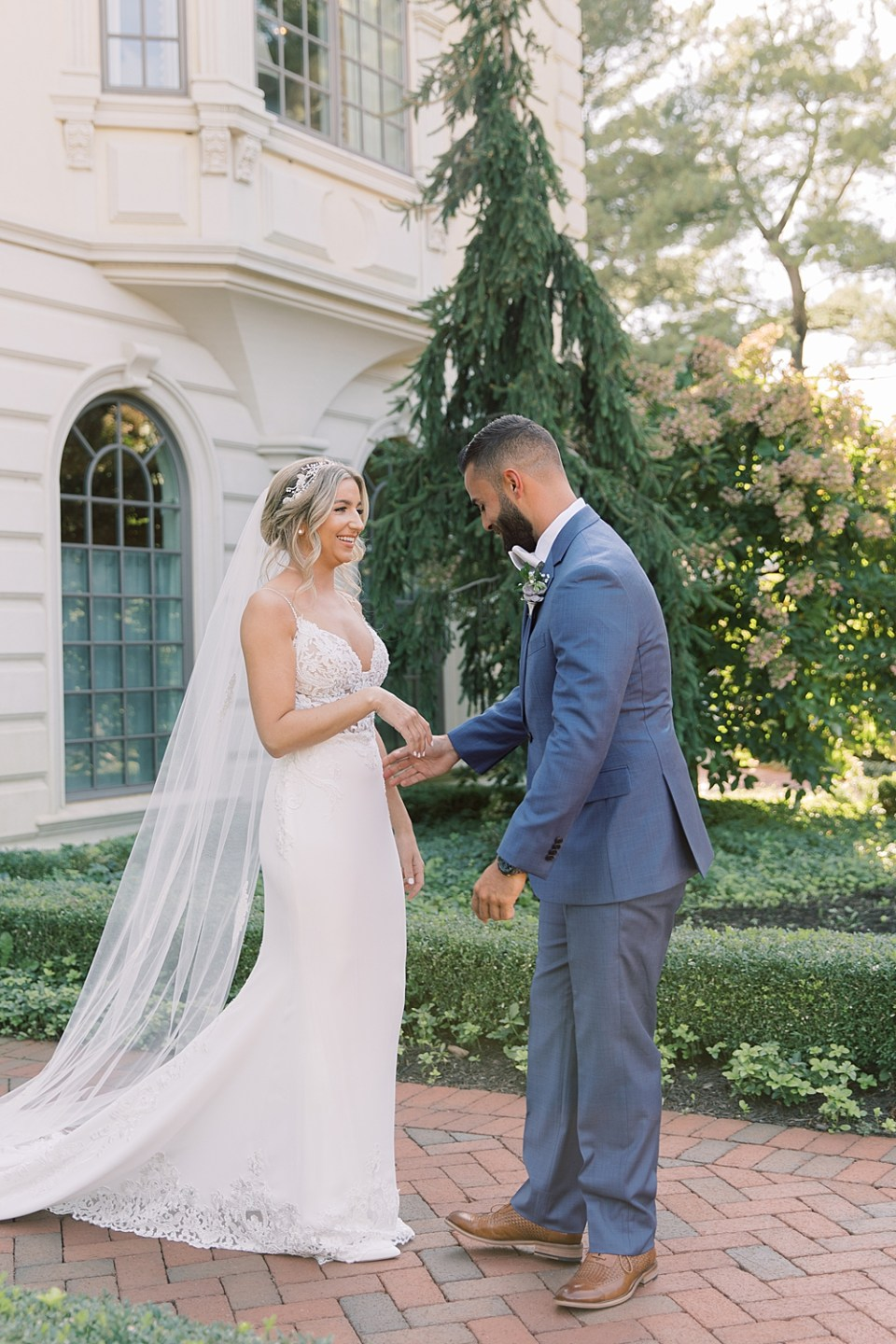 first look pictures | new jersey wedding | sarah canning photography