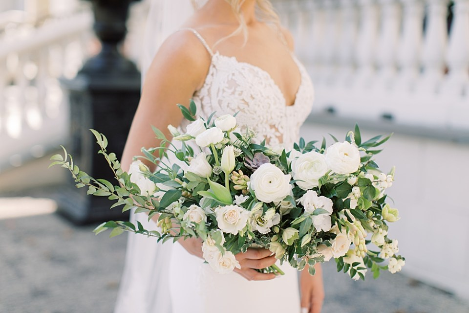 whisper and brook flower co   white and blush bridal bouquet   new jersey wedding photographer sarah canning photography