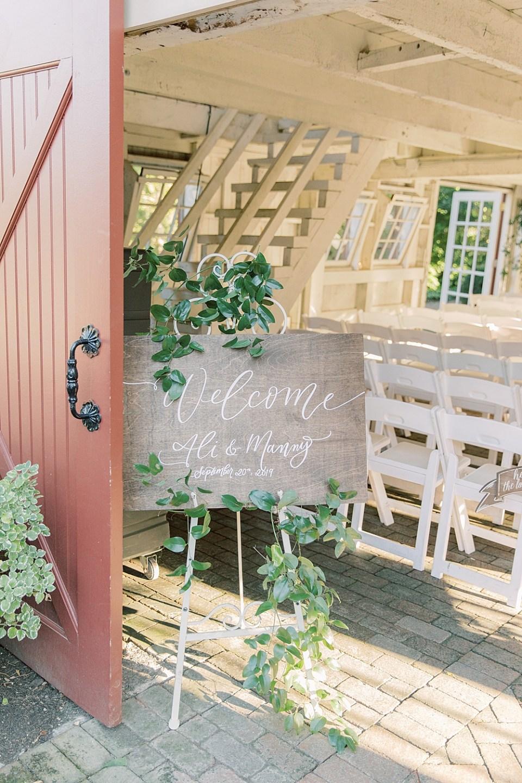 wood wedding welcome sign | PA wedding photographer Sarah Canning