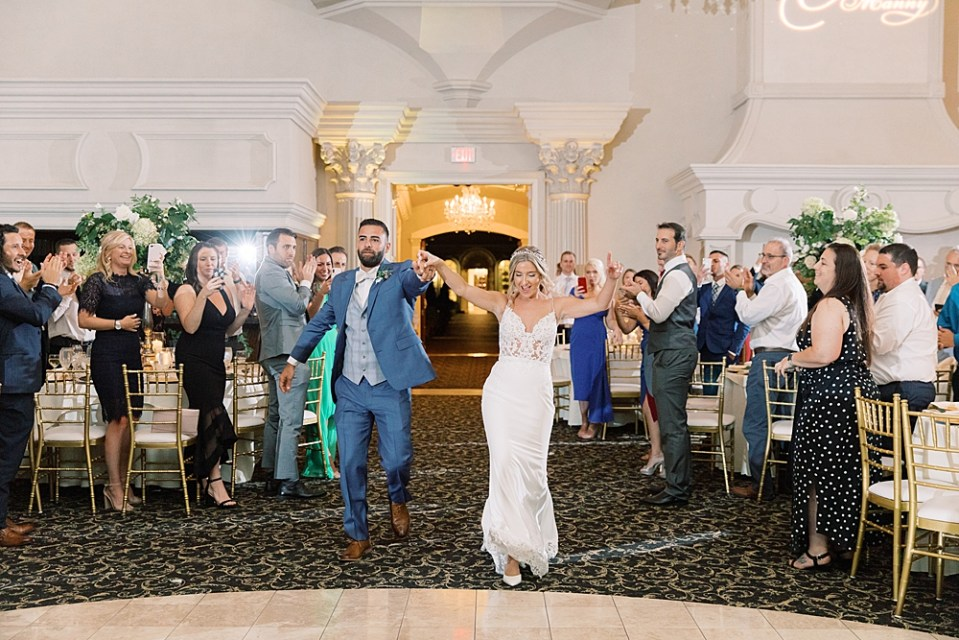 bride + groom entrances | ashford estate wedding reception | sarah canning photography