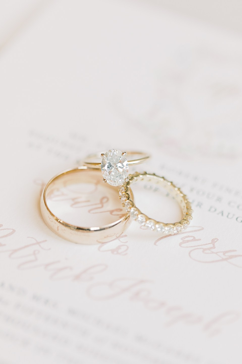 ring shot on invitation | new jersey wedding photography | sarah canning