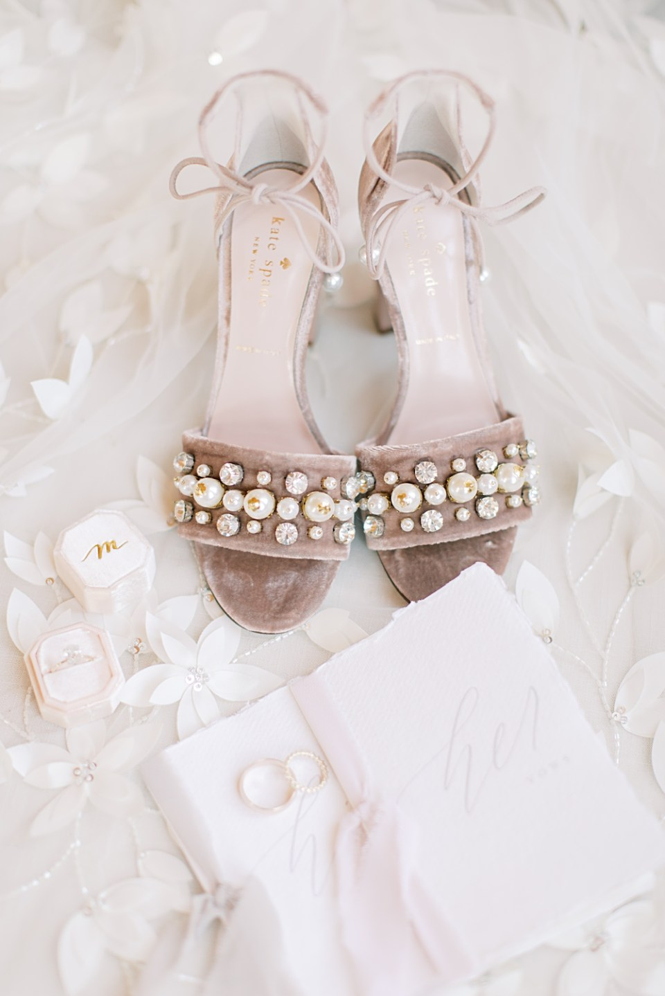 kate spade wedding shoes | mauve and pink wedding details | sarah canning photography