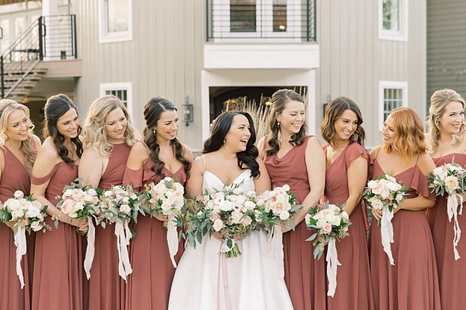 dusty rose bridesmaids dresses by bella bridesmaids | Jenny Yoo | Wedding photographer sarah canning