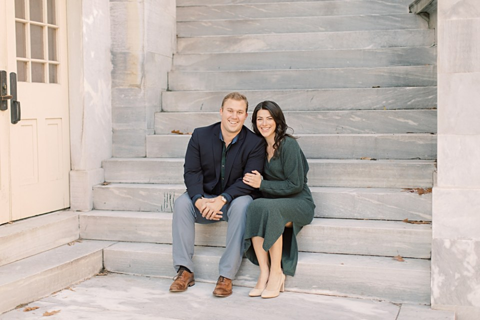 Merchant's Exchange Building | Old City Philadelphia Engagement Session | Sarah Canning