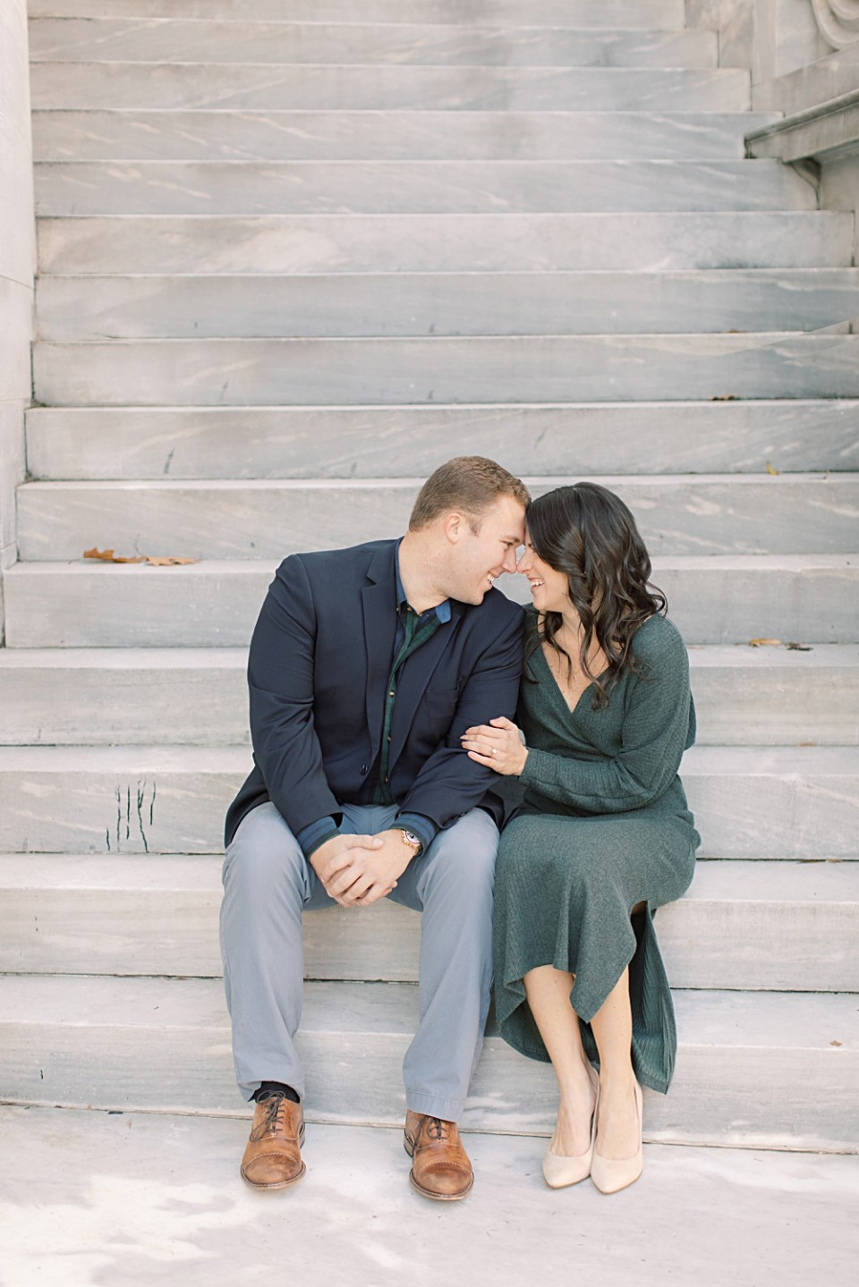 Engagement Photos at Merchant's Exchange Building | Old City Philadelphia Engagement Session | Sarah Canning