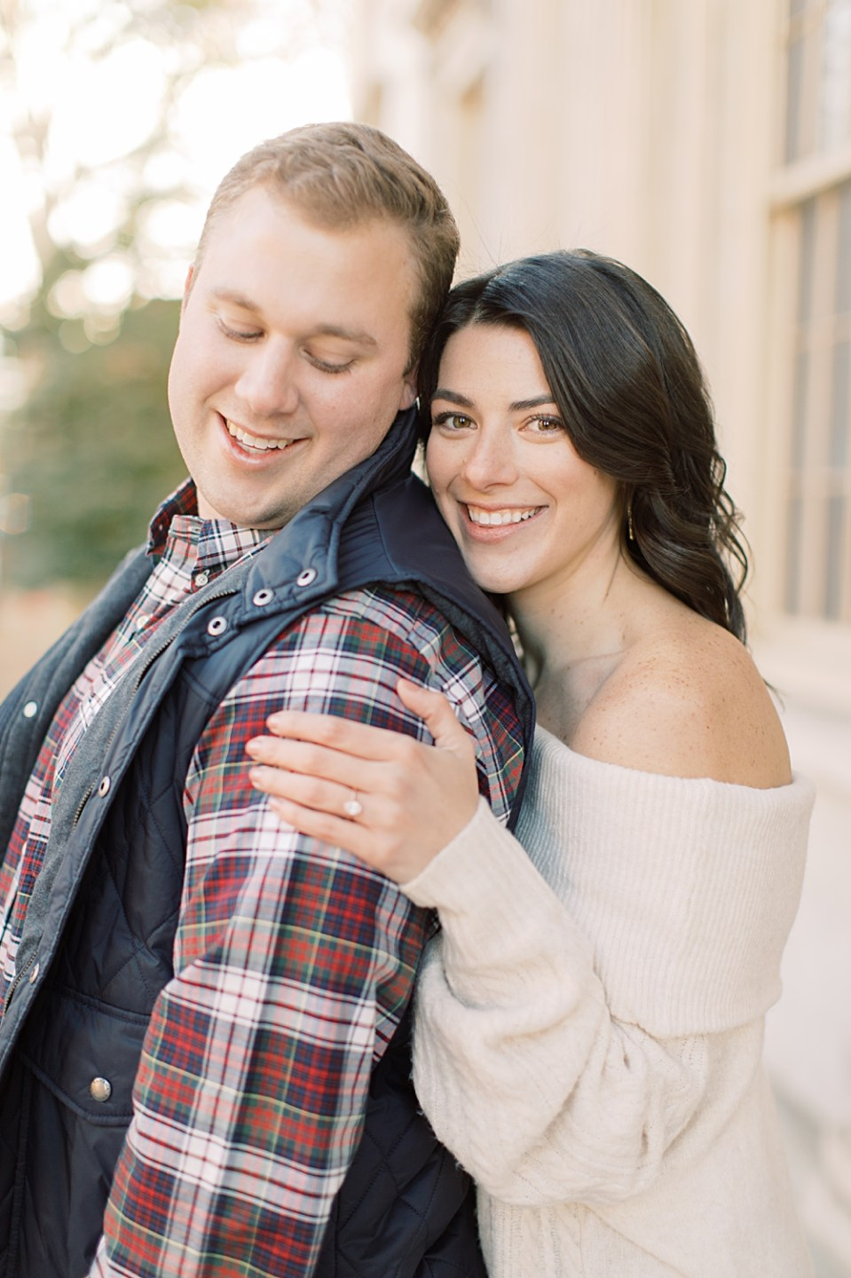 glowing engaged couple | Philadelphia Engagement Session