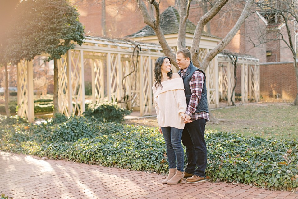 18th Century Garden Engagement Photos | Old City Philadelphia Engagement Session