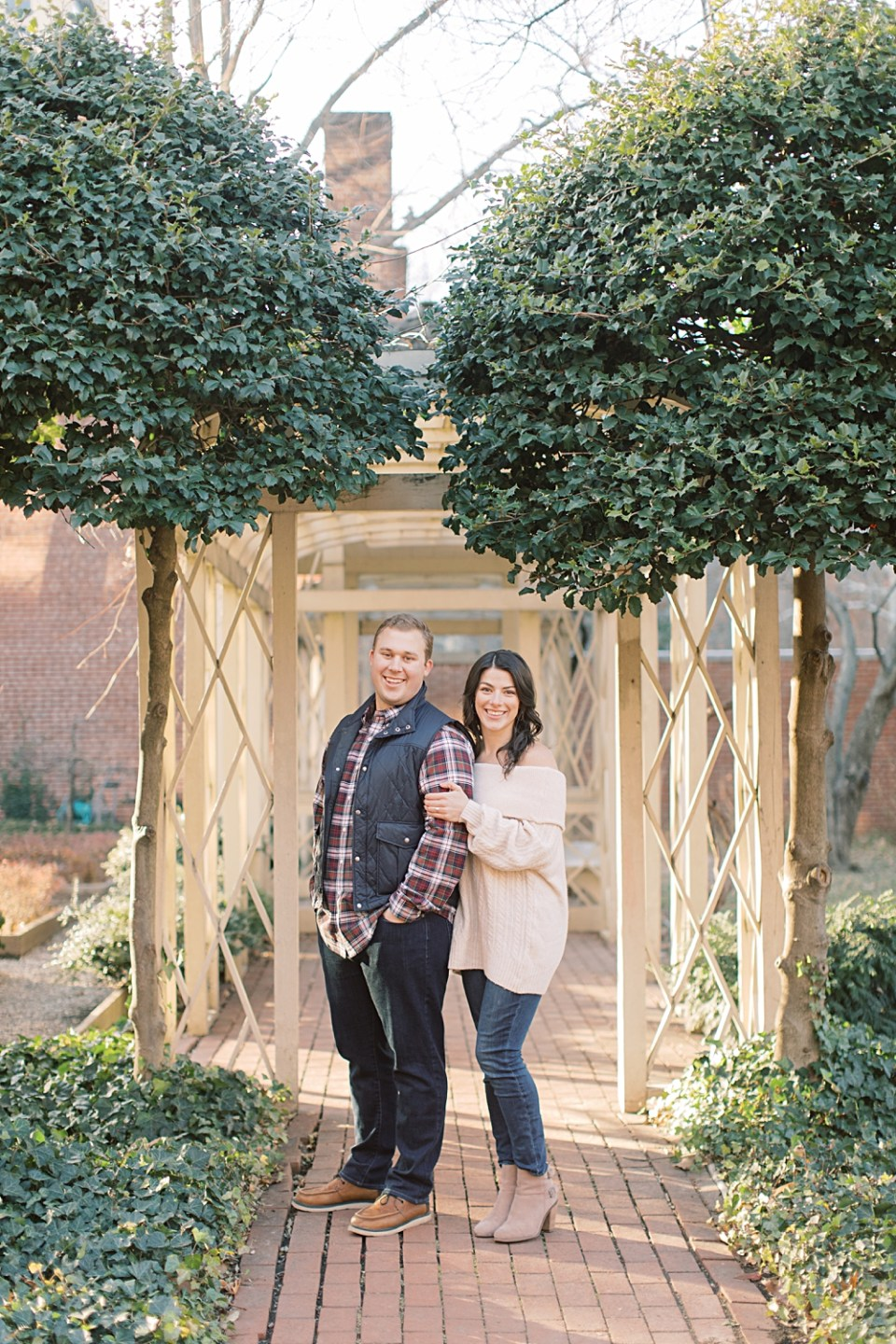 18th Century Garden Engagement Photos | Old City Philadelphia Engagement Session | Sarah Canning