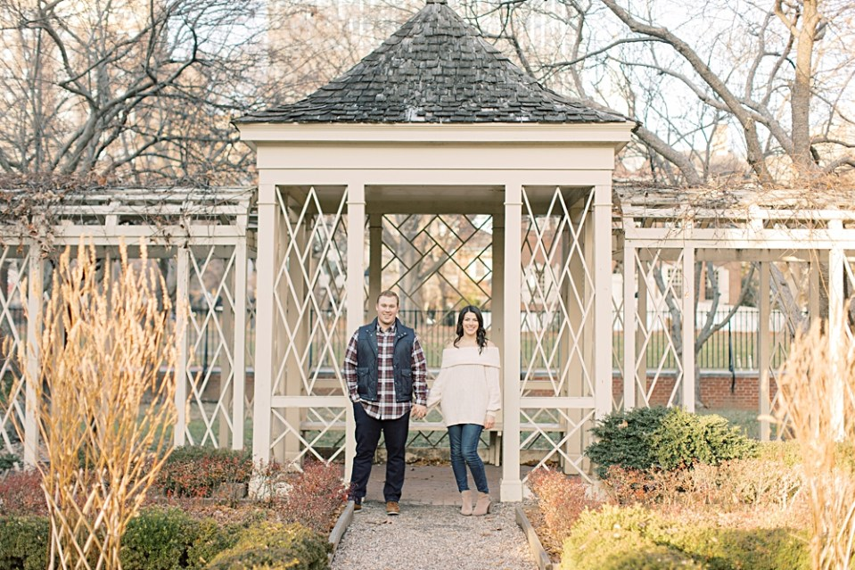 18th Century Garden Engagement Photos | Philadelphia Engagement Session | Sarah Canning