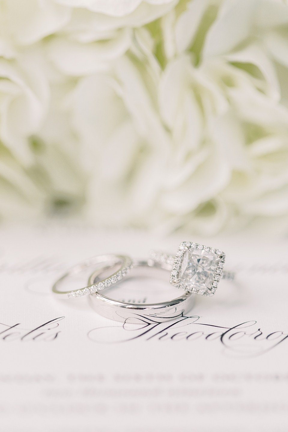 cushion cut halo engagement ring | new jersey wedding photographer sarah canning
