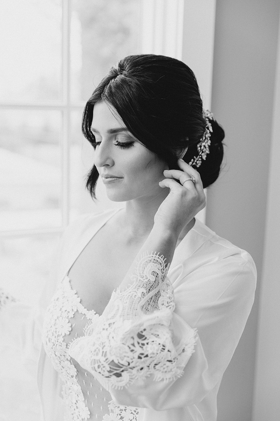 hair and makeup by alisha nycole & co | ryland inn wedding | sarah canning photography