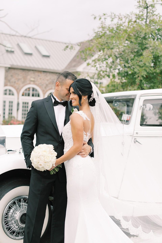 rolls royce wedding getaway car | ryland inn wedding | sarah canning photography
